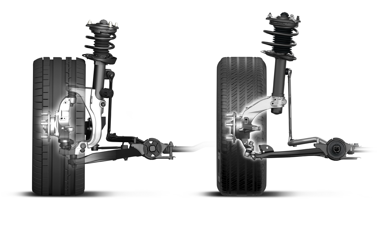 2017 Honda Civic Type R Front Suspension Compared Type R (Left)