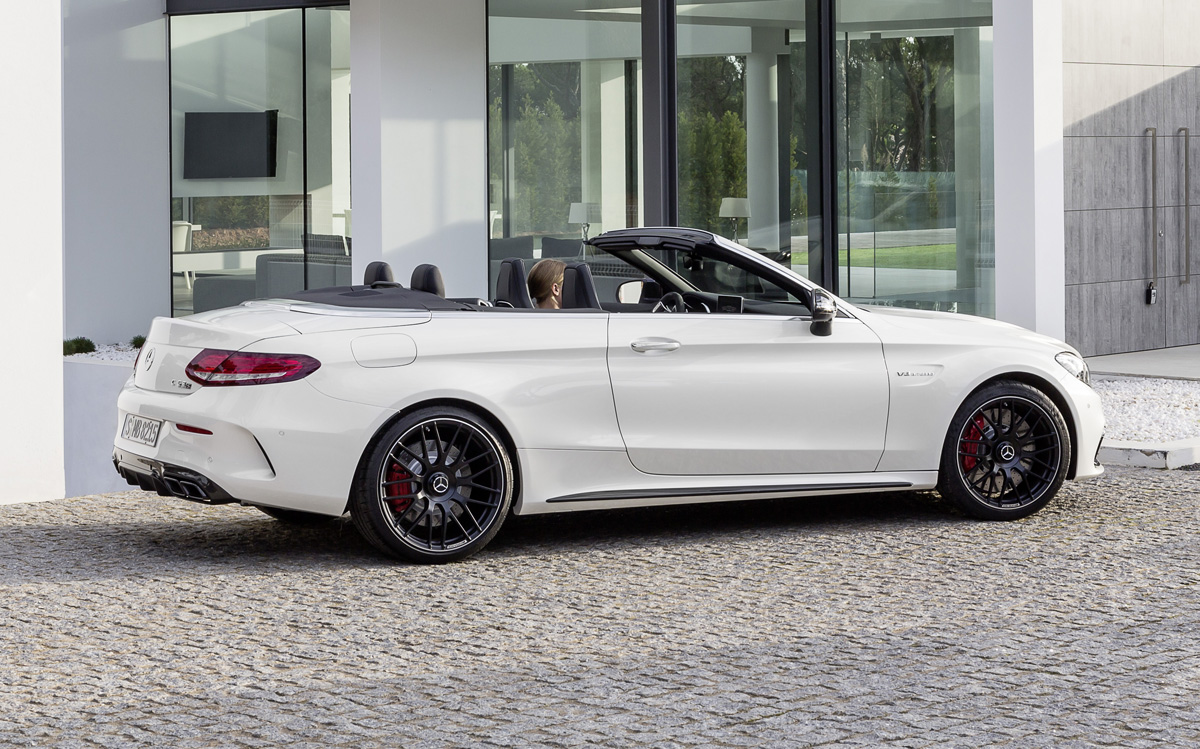 first look 2017 mercedes amg c63 cabriolet testdriven tv. Black Bedroom Furniture Sets. Home Design Ideas