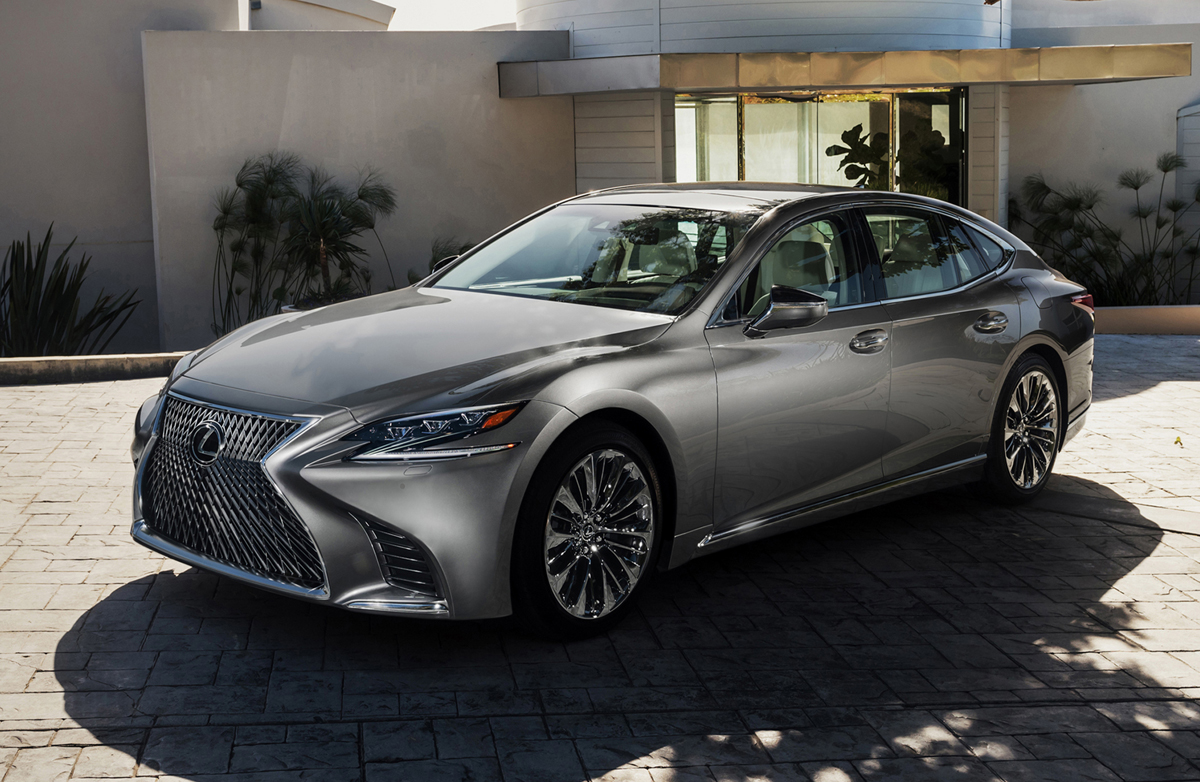 first look 2018 lexus ls testdriven tv. Black Bedroom Furniture Sets. Home Design Ideas