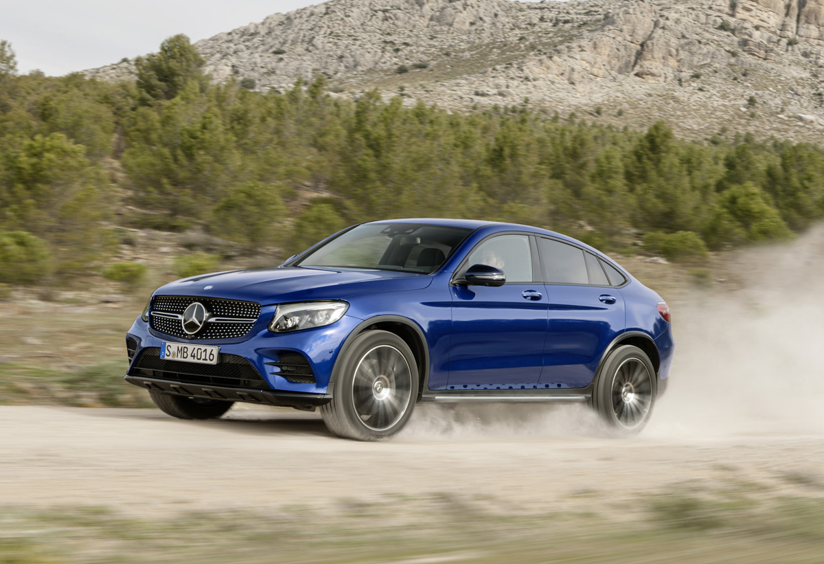 First look mercedes benz glc coupe testdriven tv for Mercedes benz tv