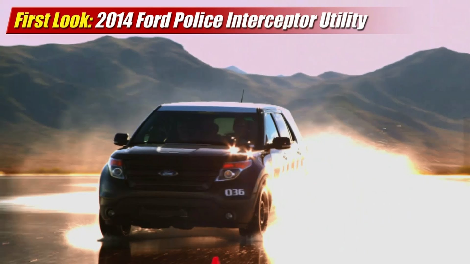 First Look 2014 Ford Police Interceptor Utility With