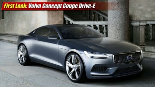 First Look: Volvo Concept Coupe Drive-E Hybrid