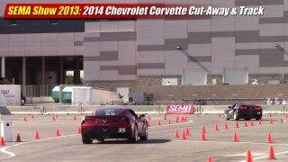 SEMA Show 2013: 2014 Corvette Stingray cut-away and track demonstration