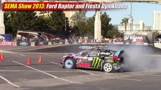 SEMA Show 2013: Ford Fiesta and Raptor Gymkhana Exhibition