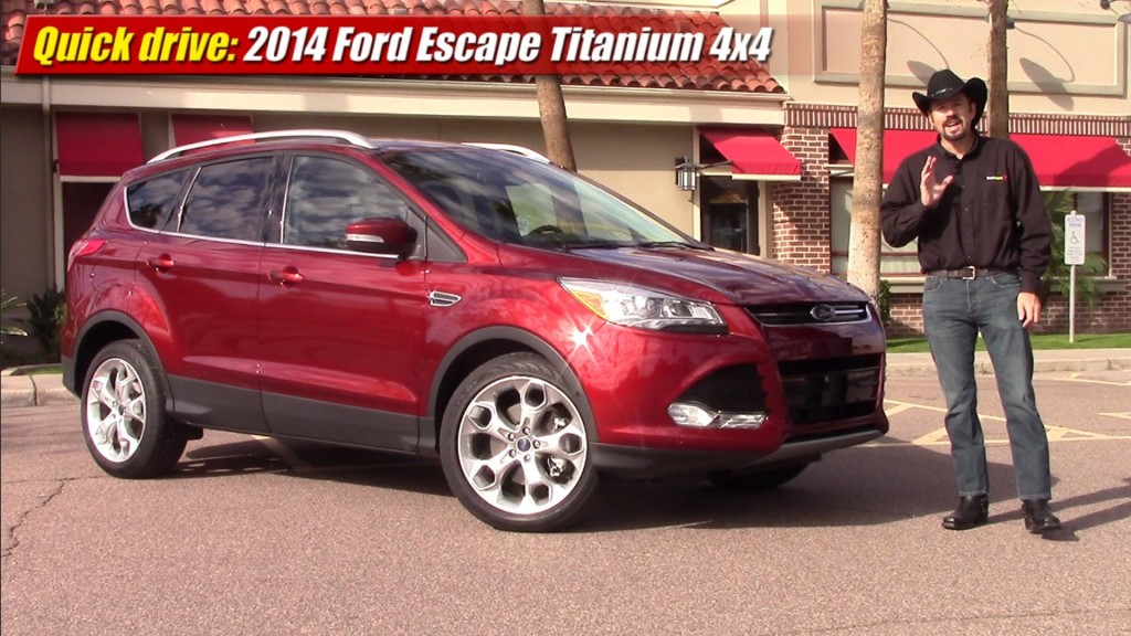 quick drive 2014 ford escape titanium ecoboost testdriven tv. Black Bedroom Furniture Sets. Home Design Ideas