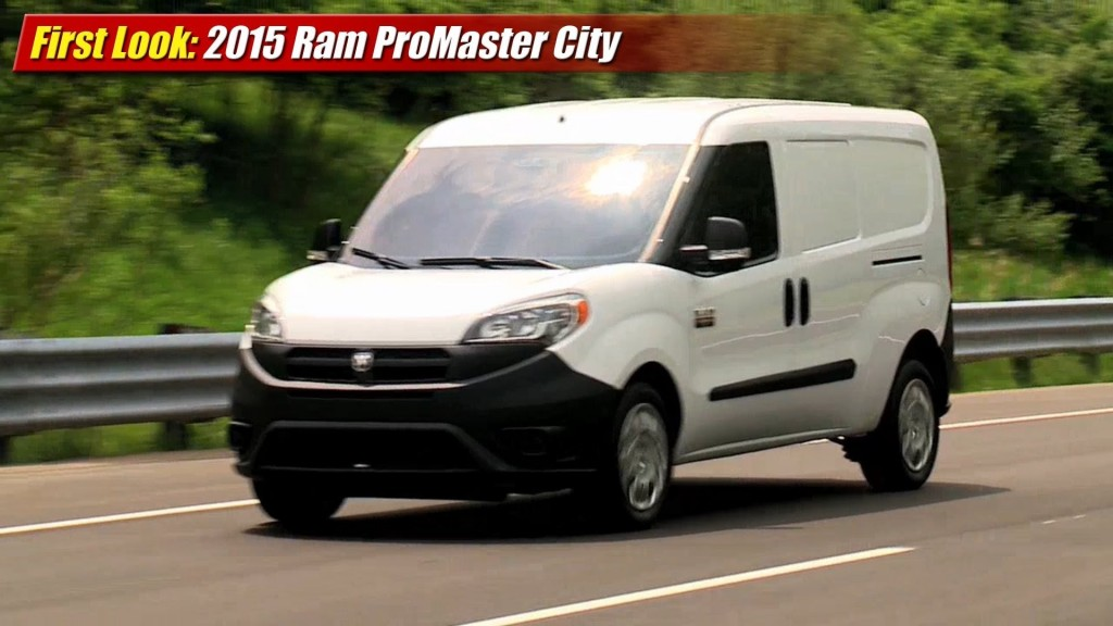 Nissan Passenger Van >> First Look: 2015 Ram ProMaster City Cargo Van - TestDriven.TV