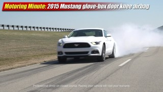 Motoring Minute: 2015 Mustang glove-box door knee airbag