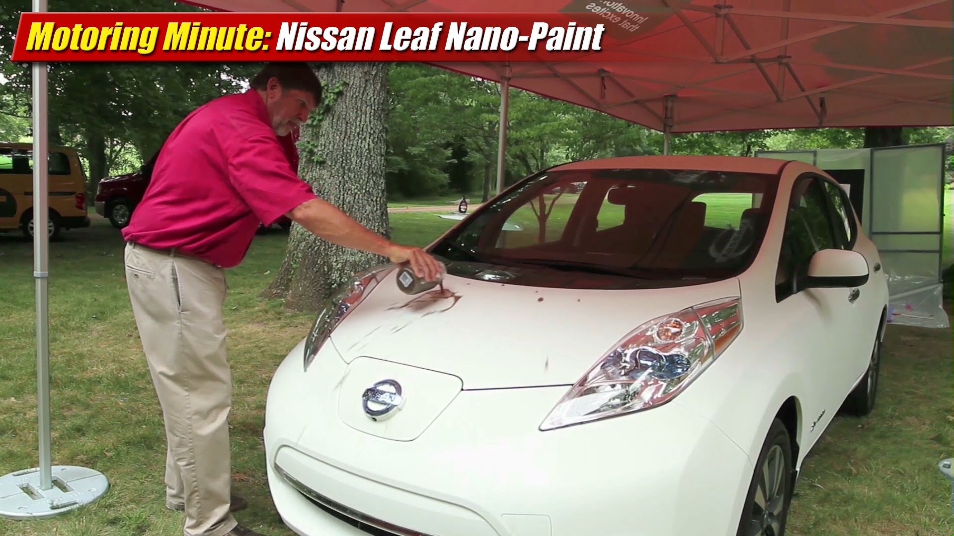 Motoring Minute: Nissan Leaf Nano Paint