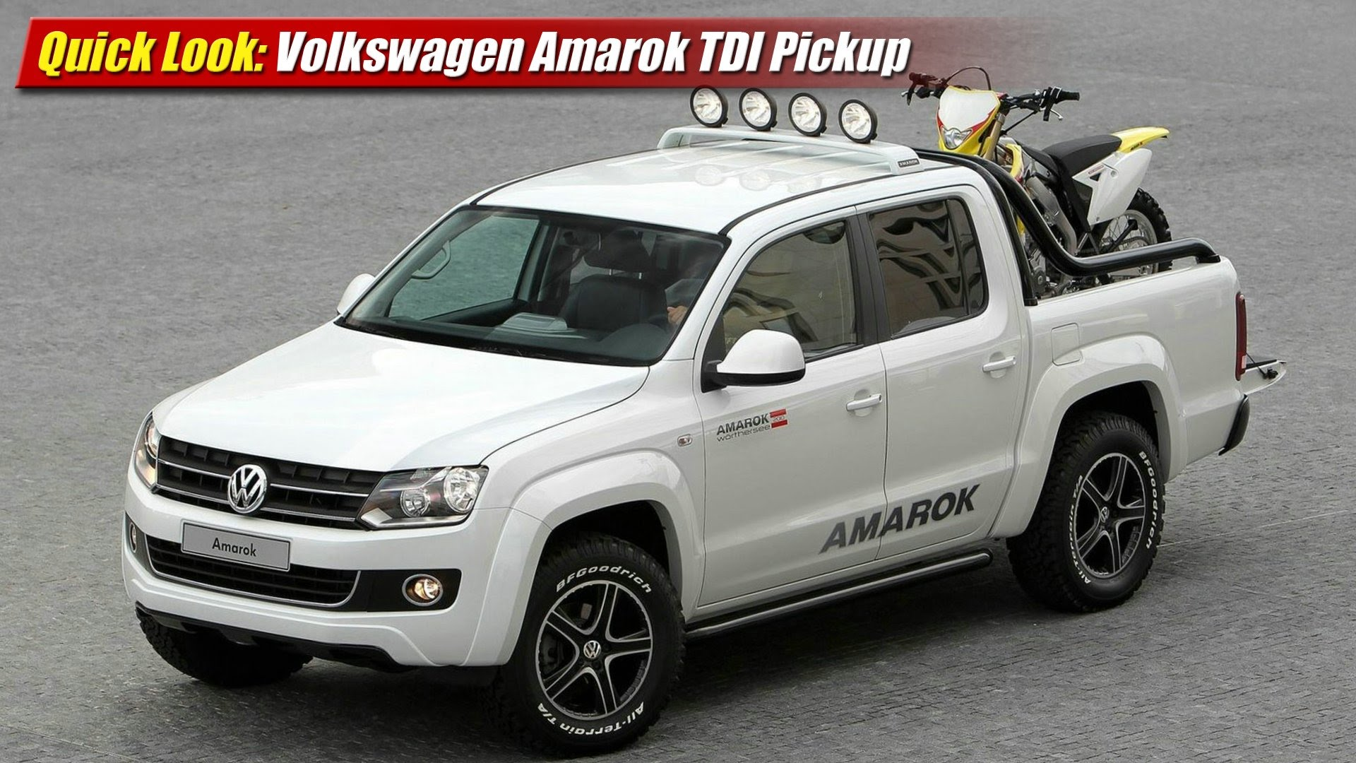 quick look volkswagen amarok tdi pickup testdriven tv. Black Bedroom Furniture Sets. Home Design Ideas