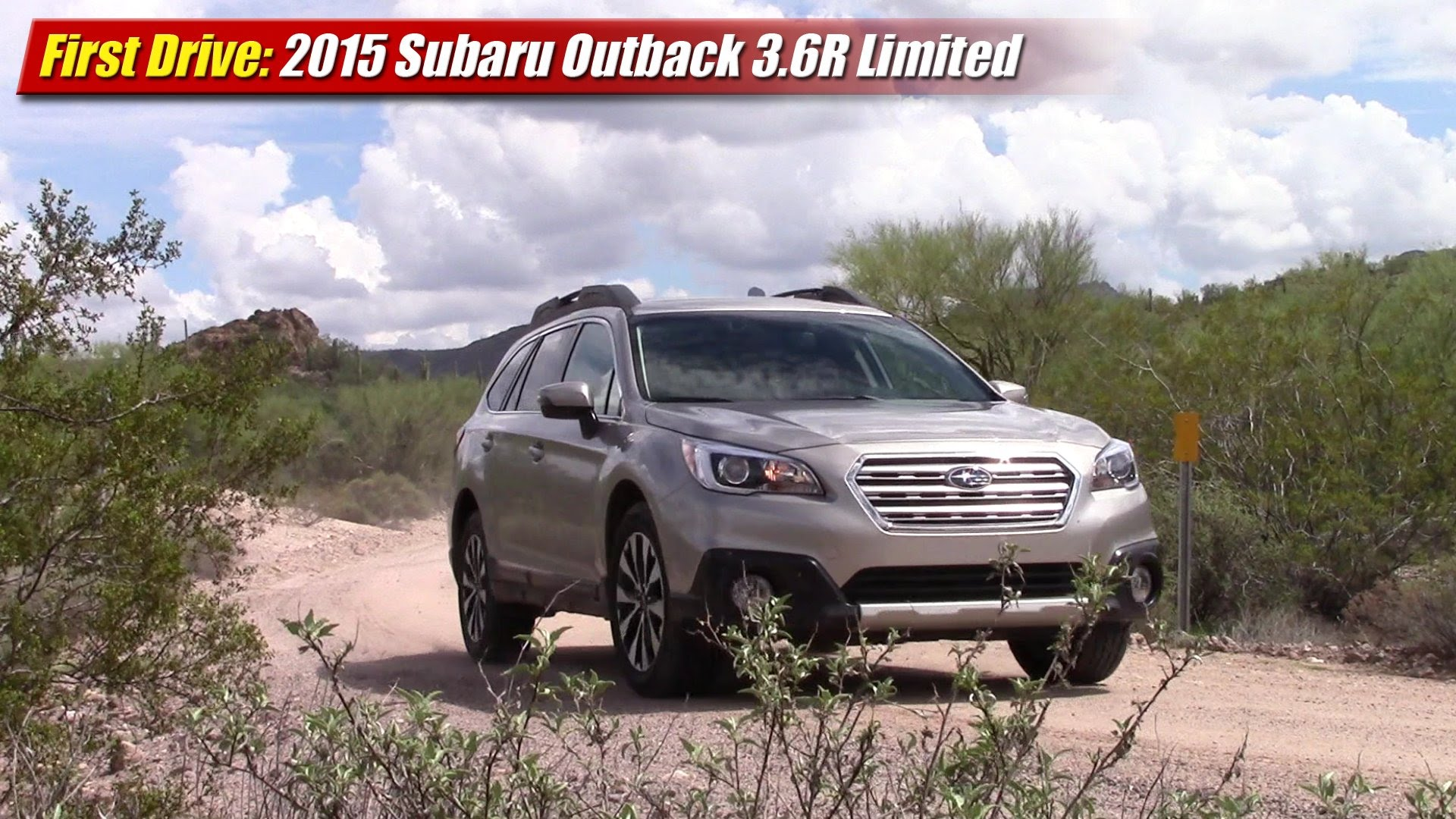 first drive 2015 subaru outback 3 6r limited testdriven tv. Black Bedroom Furniture Sets. Home Design Ideas