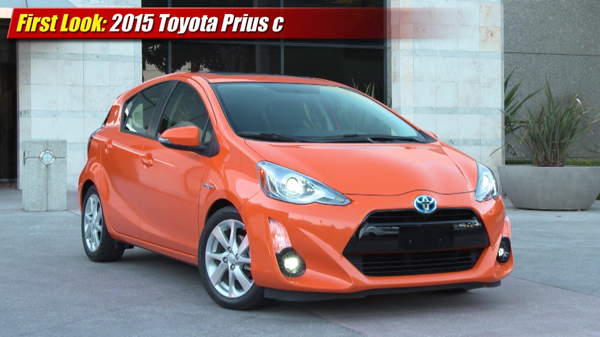 first look 2015 toyota prius c testdriven tv. Black Bedroom Furniture Sets. Home Design Ideas