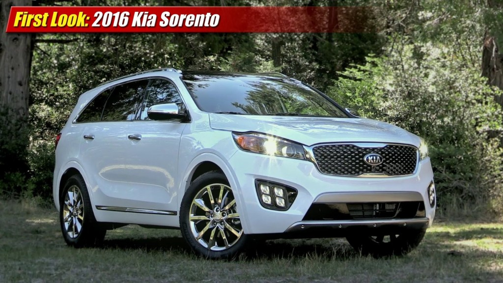 first look 2016 kia sorento testdriven tv. Black Bedroom Furniture Sets. Home Design Ideas