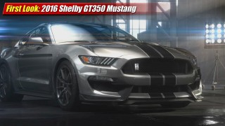 First Look: 2016 Shelby GT350 Mustang