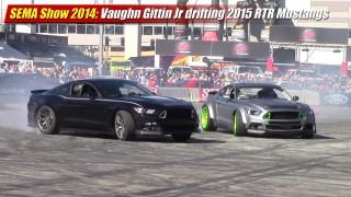 SEMA Show 2014: Vaughn Gittin Jr drifting 2015 RTR Mustang