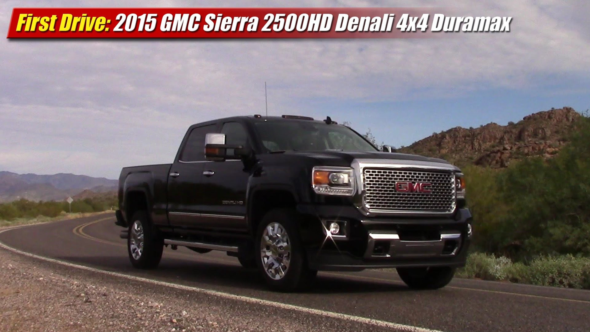 first drive 2015 gmc sierra 2500hd 4x4 duramax testdriven tv 2015 GMC 2500HD Duramax Black