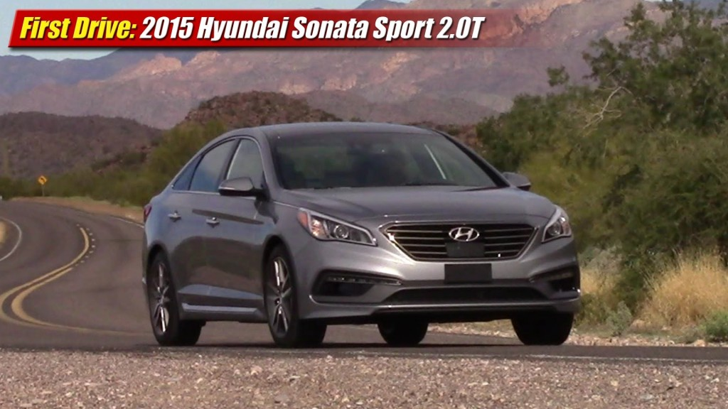first drive 2015 hyundai sonata sport 2 0t testdriven tv. Black Bedroom Furniture Sets. Home Design Ideas