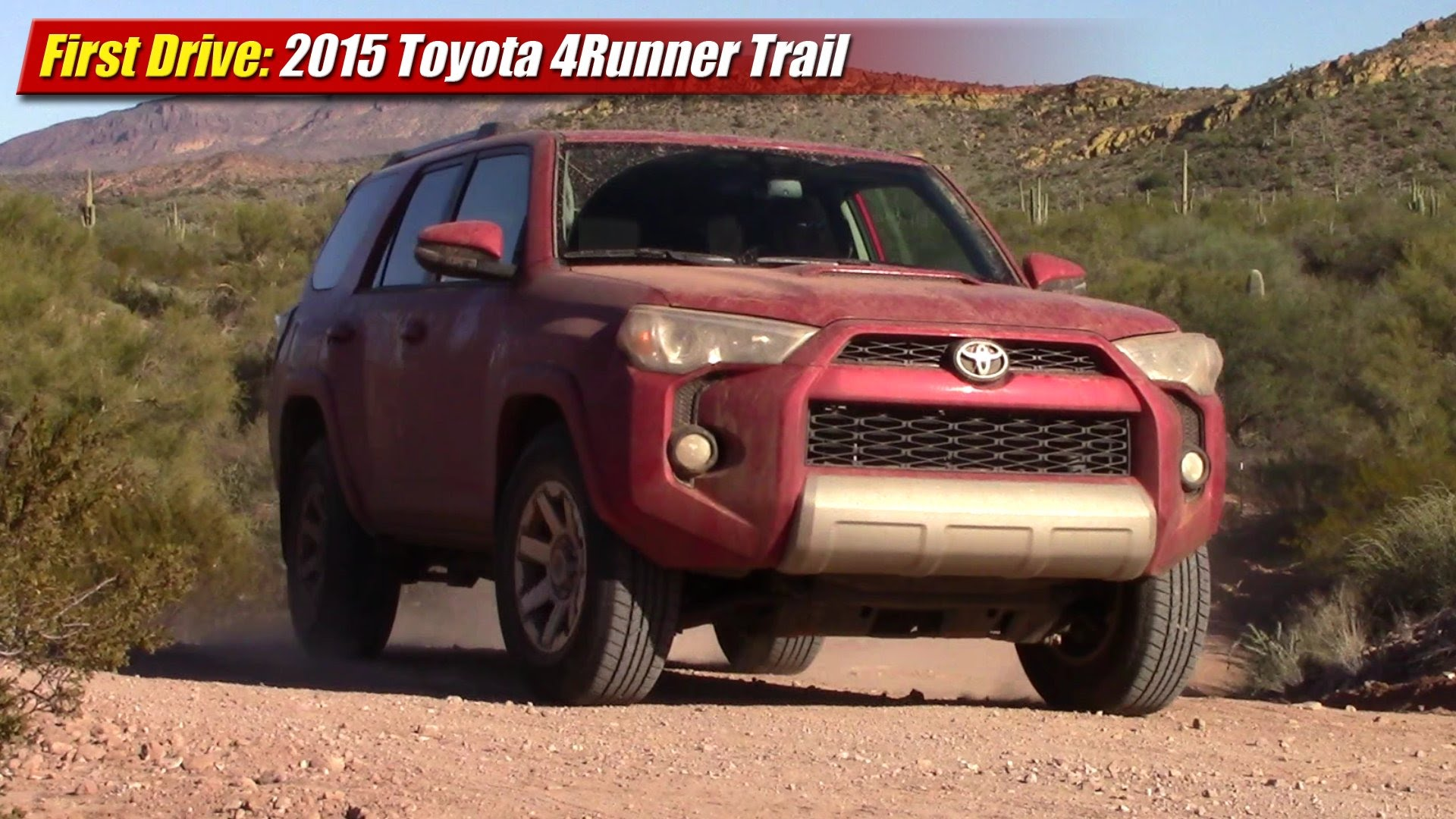 first drive 2015 toyota 4runner trail testdriven tv. Black Bedroom Furniture Sets. Home Design Ideas