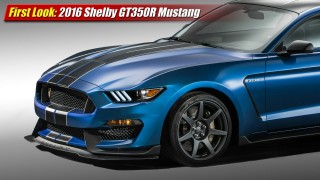 First Look: 2016 Shelby GT350R Mustang