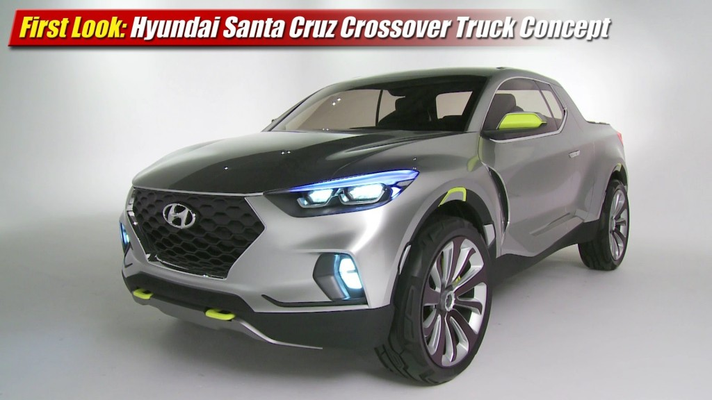 First Look Hyundai Santa Cruz Crossover Truck Concept