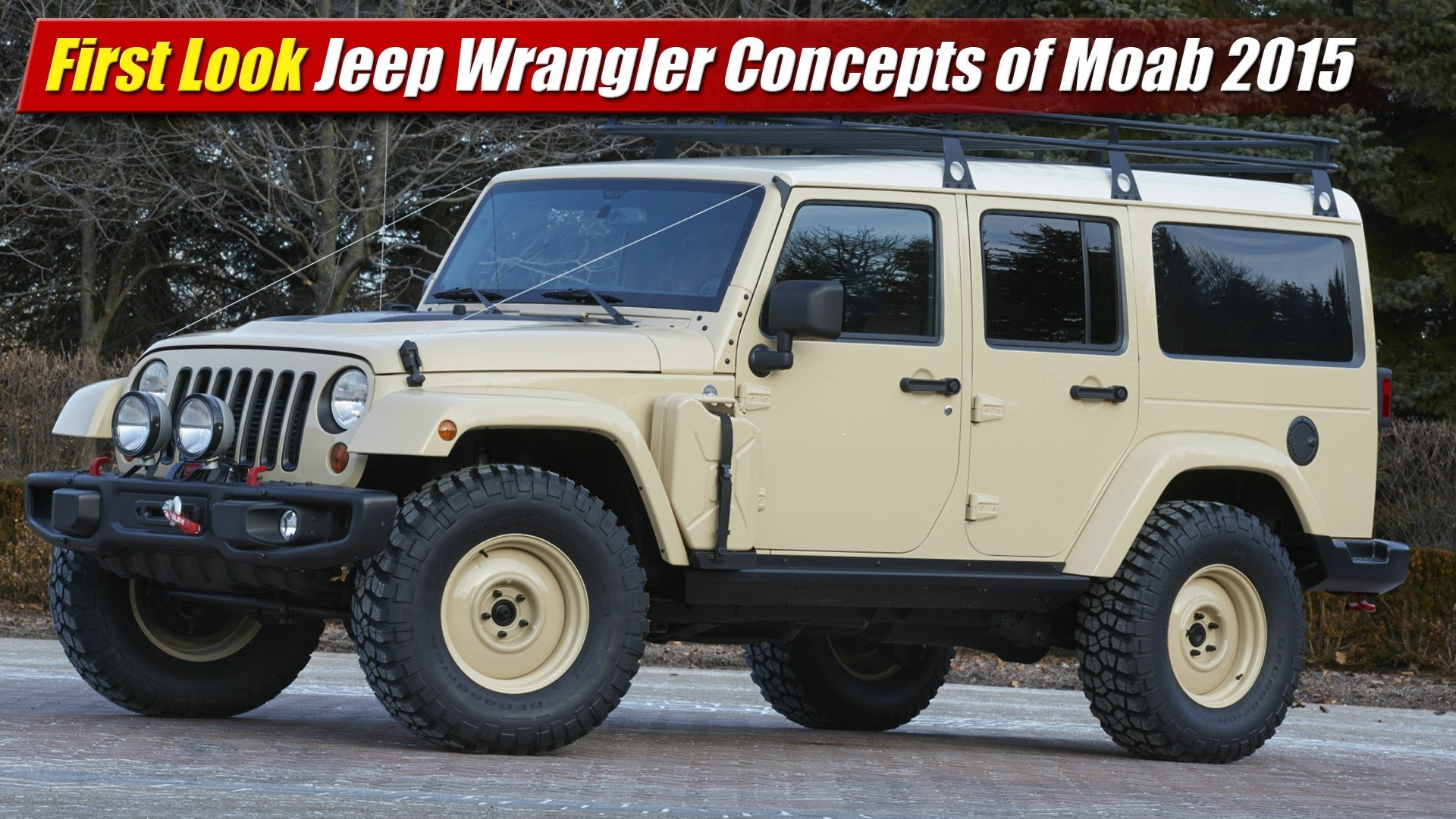 First Look: Jeep Wrangler Concepts of Moab 2015 ...