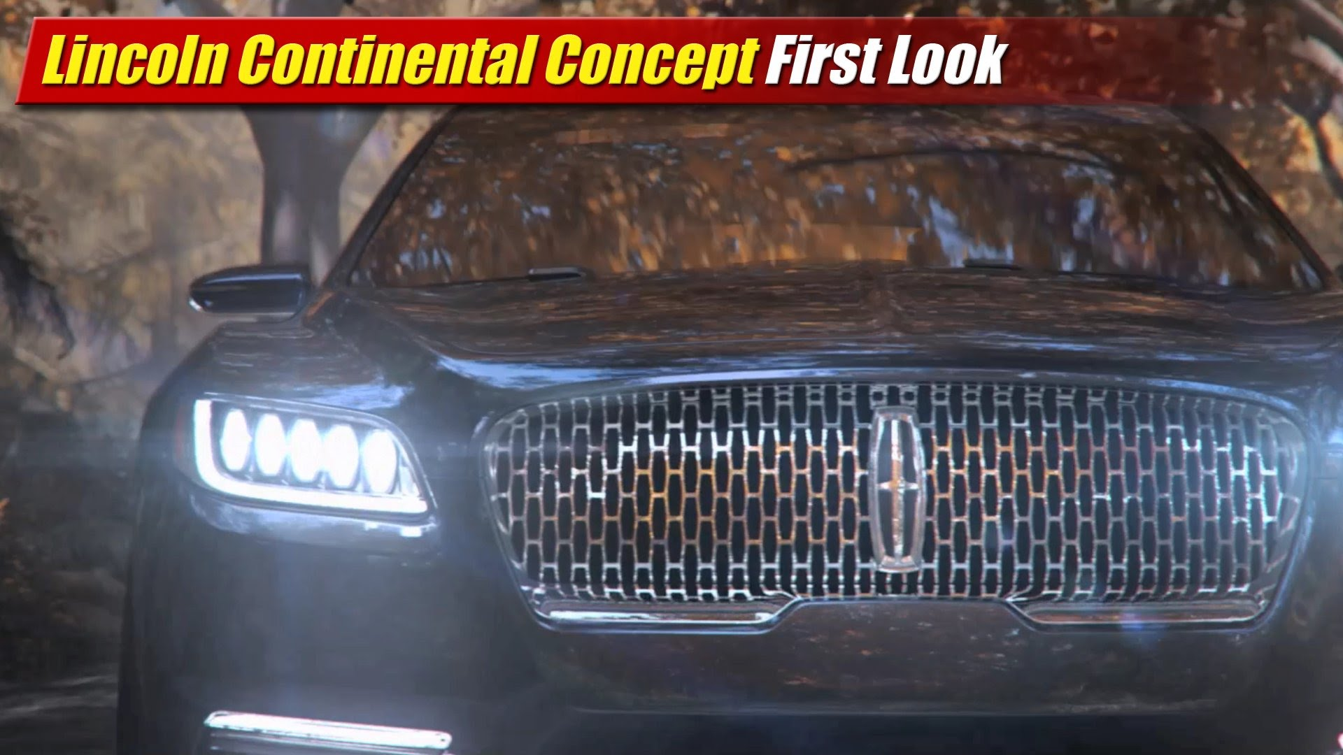 Wonderful First Look Lincoln Continental Concept  TestDrivenTV
