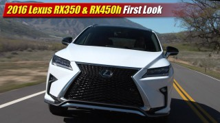 First Look: 2016 Lexus RX350 & RX450h