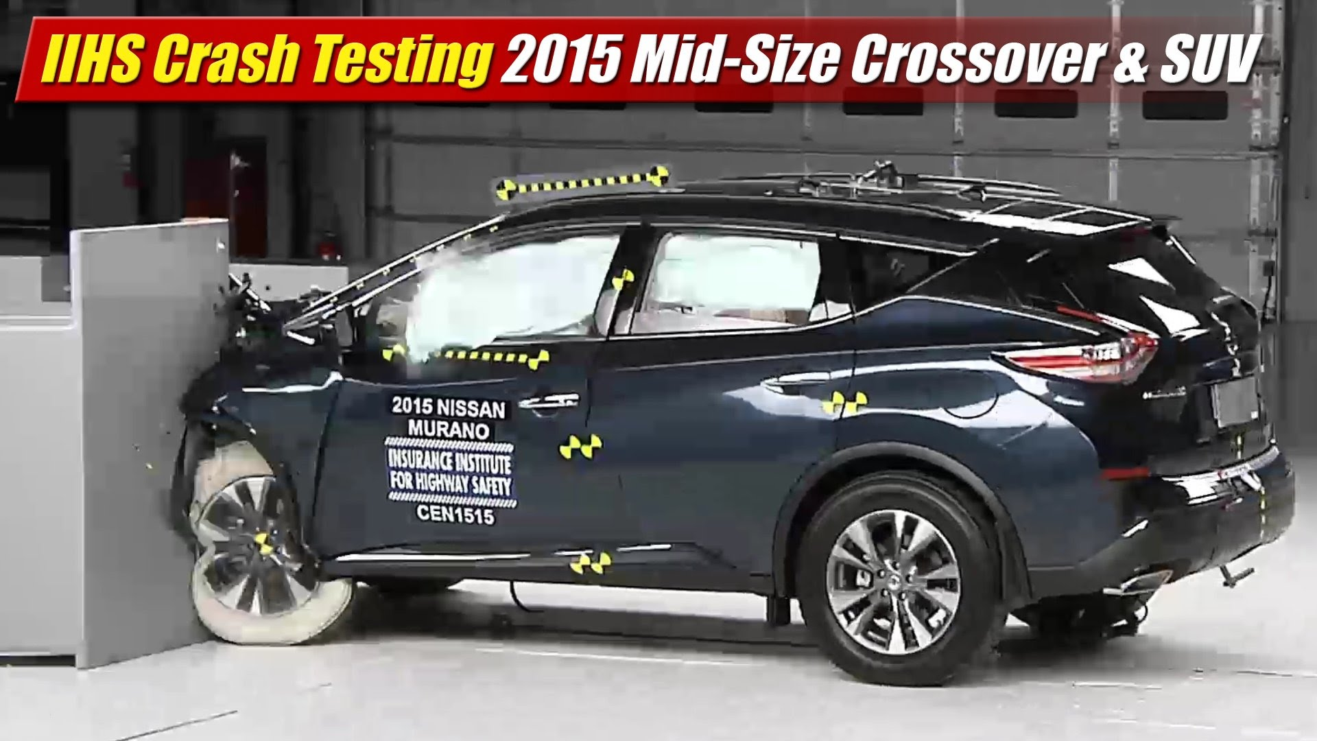 IIHS Crash Testing: 2015 Mid-Size Crossover & SUV