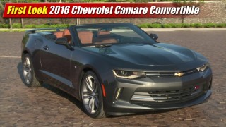 First Look: 2016 Chevrolet Camaro Convertible
