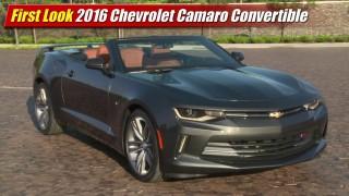 First Look: 2016 Chevrolet Camaro Convertible