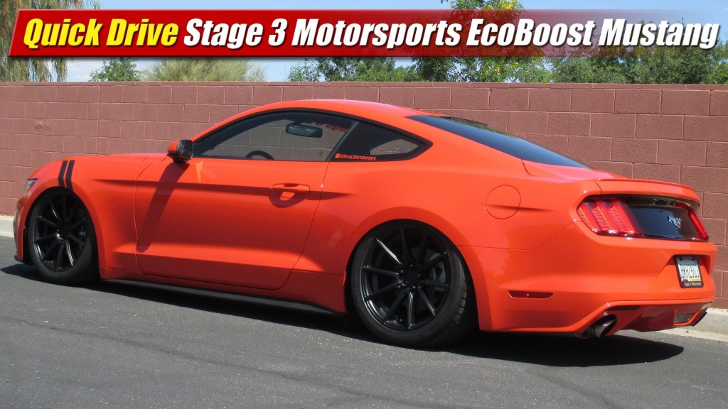 Quick Drive Stage 3 Motorsports Ecoboost 2015 Mustang