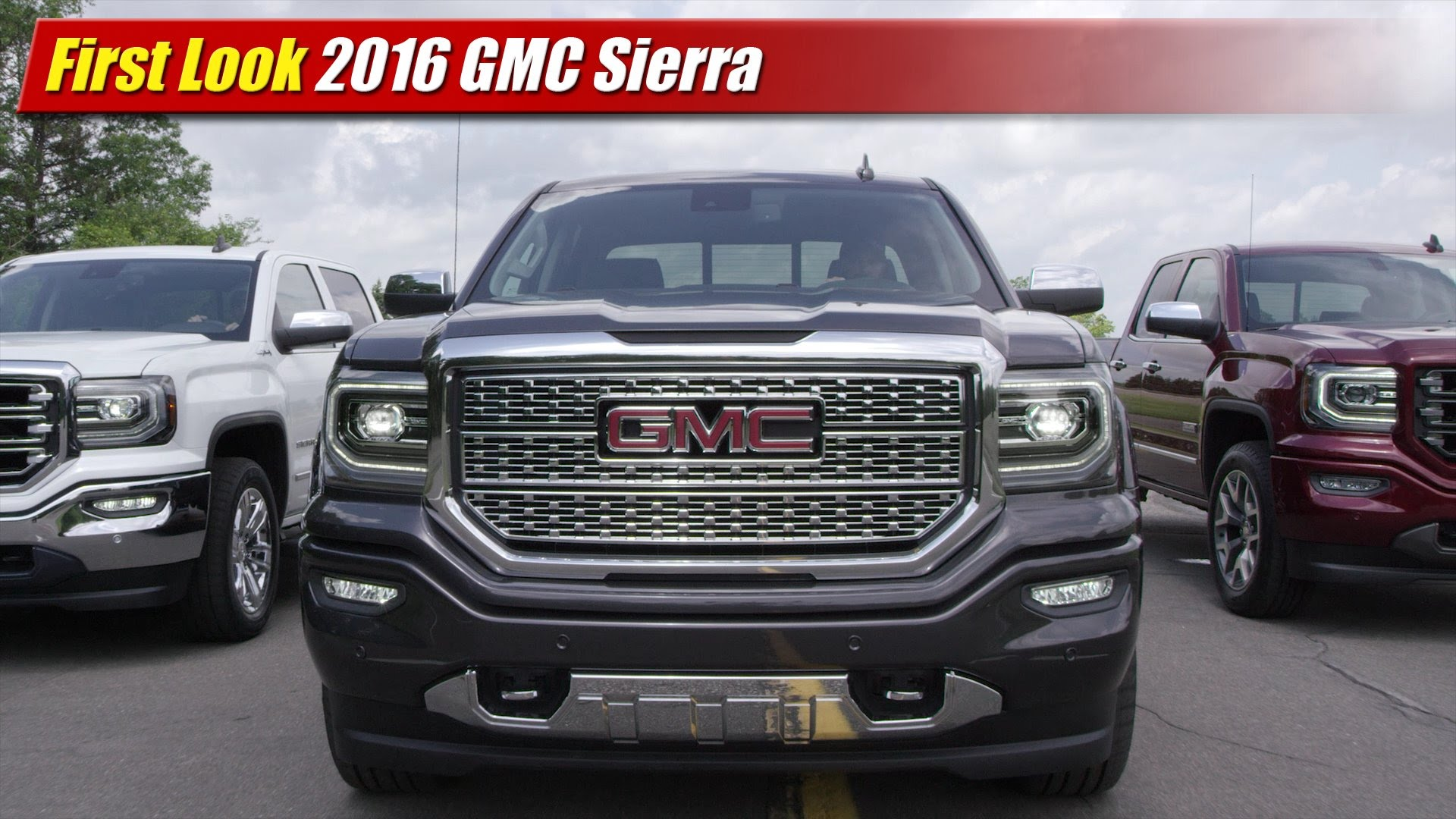 first look 2016 gmc sierra testdriven tv. Black Bedroom Furniture Sets. Home Design Ideas