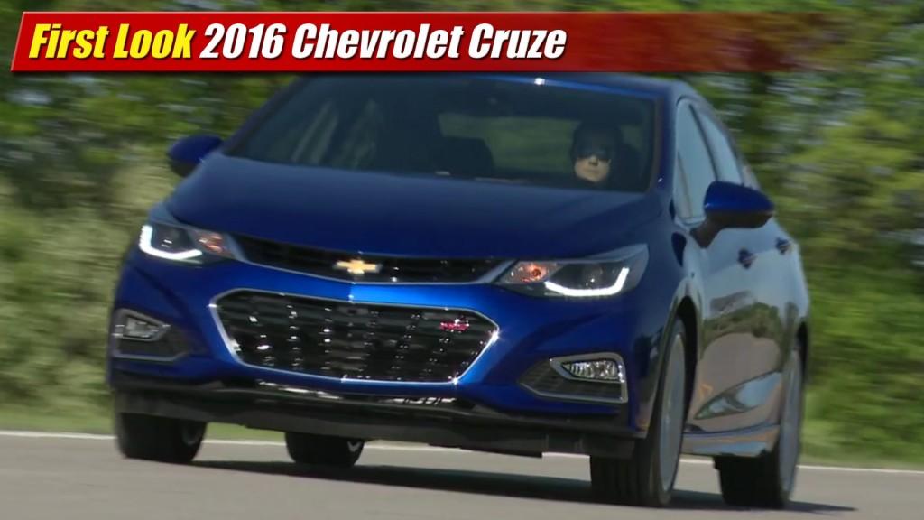 Lastest First Look 2016 Chevrolet Cruze  TestDrivenTV