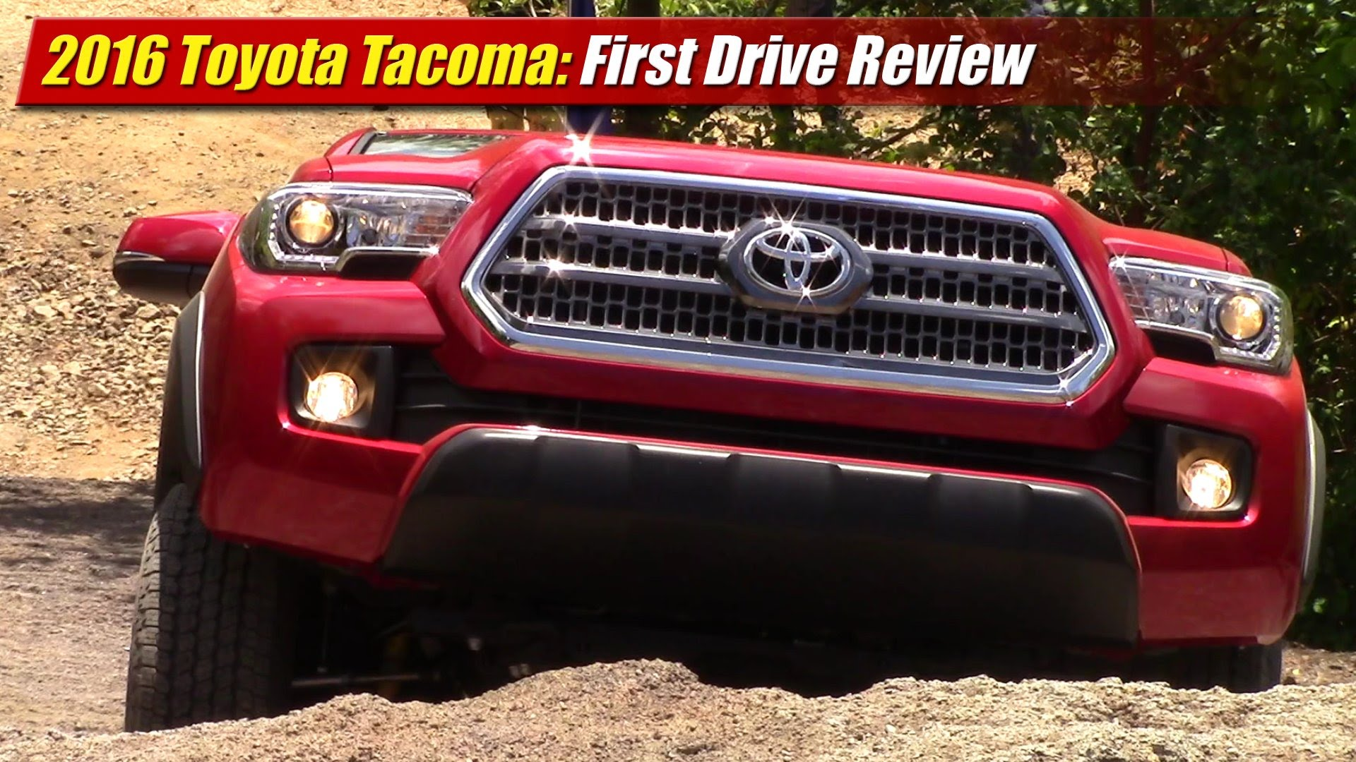first drive review 2016 toyota tacoma testdriven tv. Black Bedroom Furniture Sets. Home Design Ideas