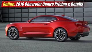 Online: 2016 Chevrolet Camaro Pricing & Details