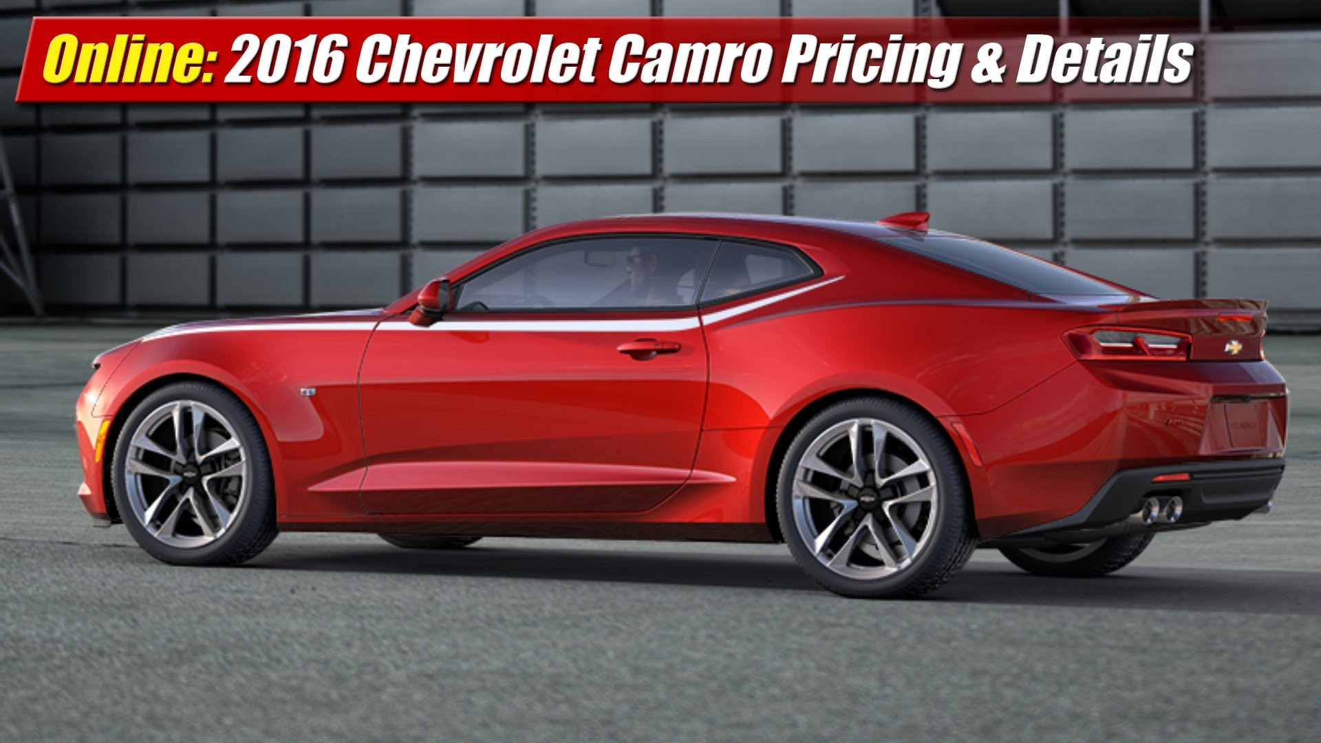 online 2016 chevrolet camaro pricing details testdriven tv. Black Bedroom Furniture Sets. Home Design Ideas