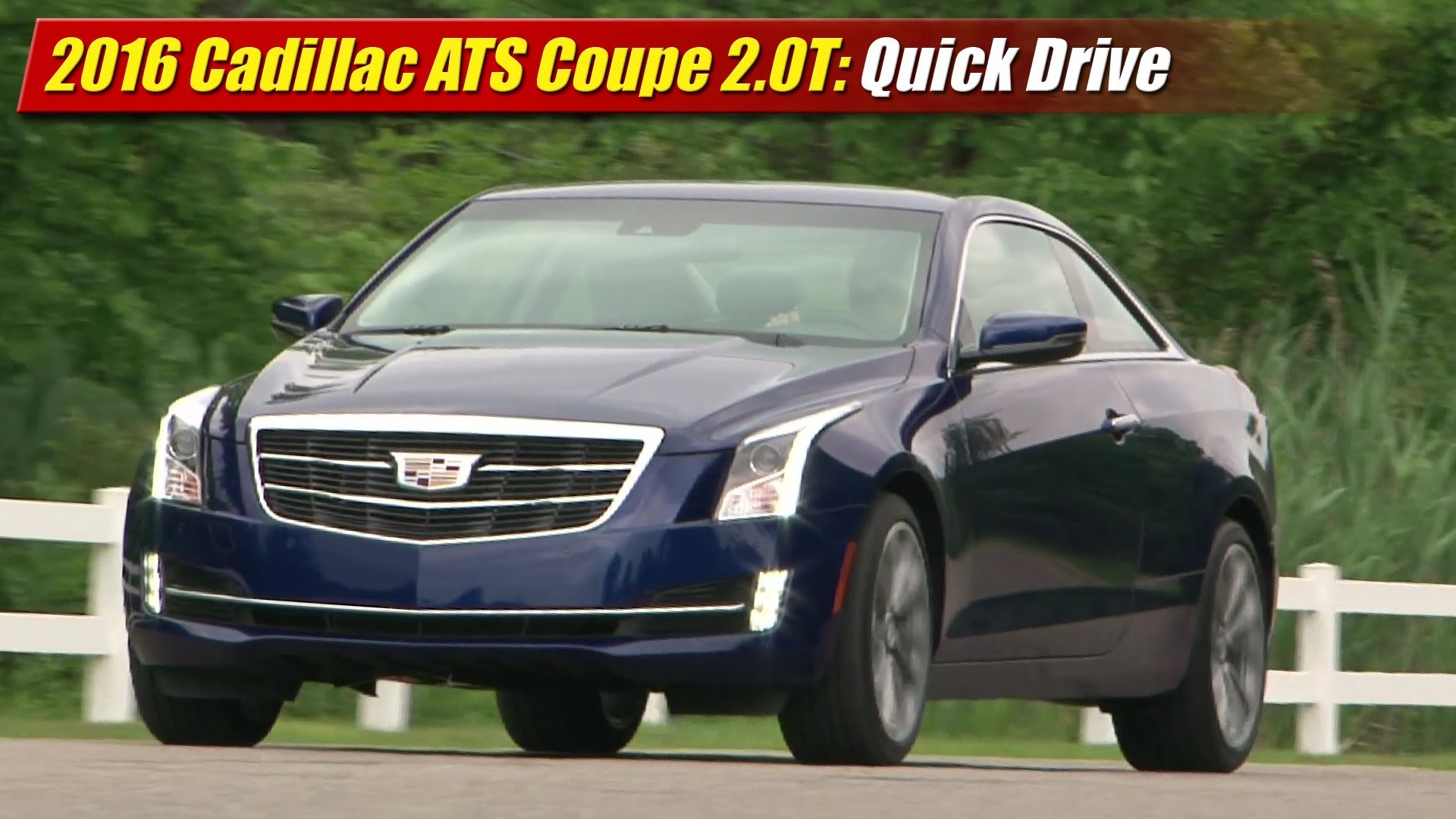 quick drive 2015 cadillac ats coupe 2 0t testdriven tv. Black Bedroom Furniture Sets. Home Design Ideas