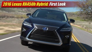 First Look: 2016 Lexus RX450h Hybrid