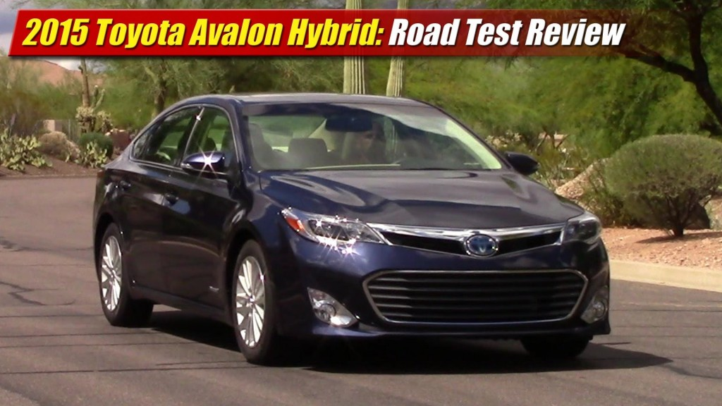 road test review 2015 toyota avalon hybrid testdriven tv. Black Bedroom Furniture Sets. Home Design Ideas