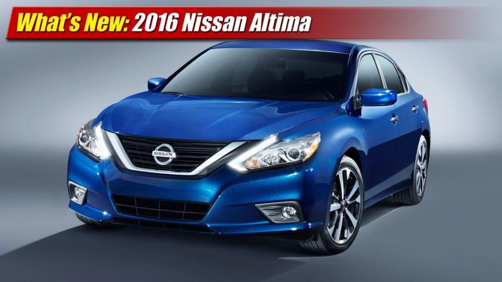 What's New: 2016 Nissan Altima - TestDriven.TV