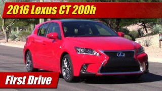 First Drive: 2016 Lexus CT200h Hybrid