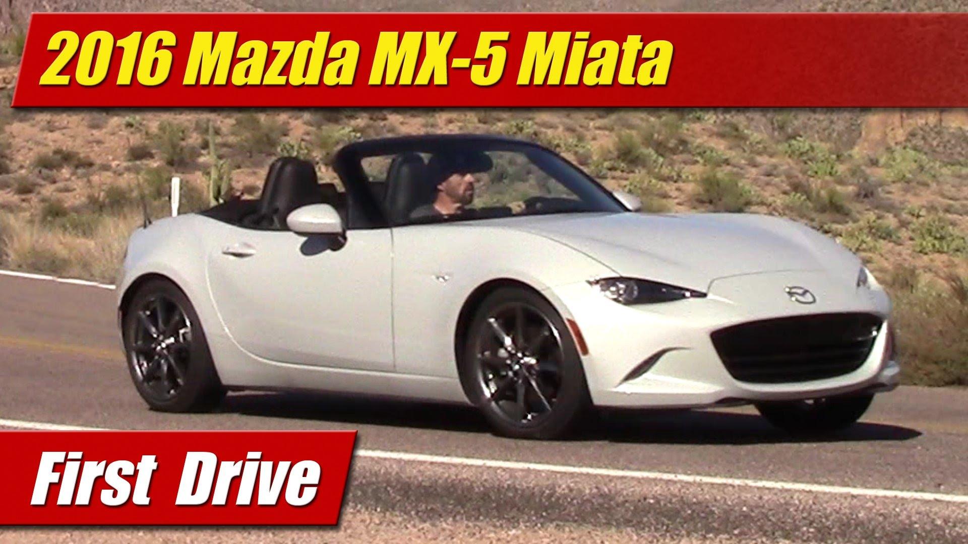 first drive review 2016 mazda mx 5 miata testdriven tv. Black Bedroom Furniture Sets. Home Design Ideas