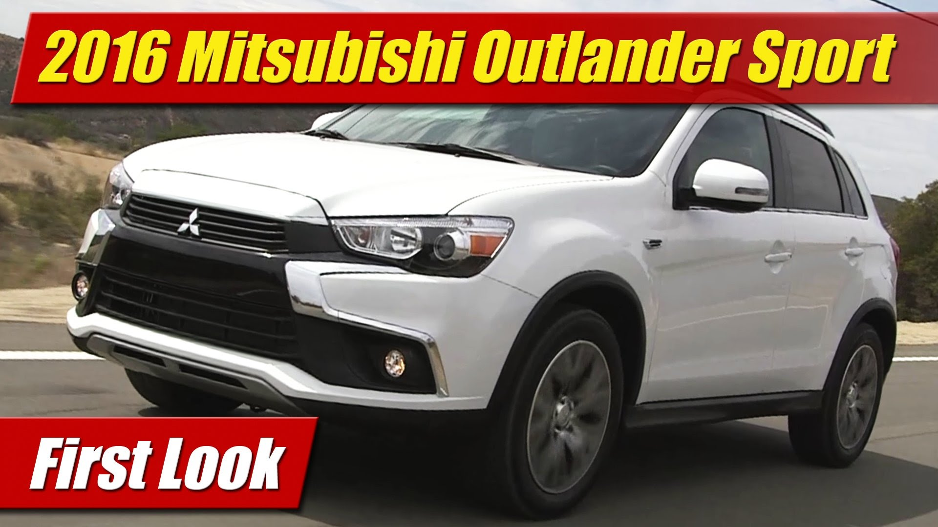first look 2016 mitsubishi outlander sport testdriven tv. Black Bedroom Furniture Sets. Home Design Ideas