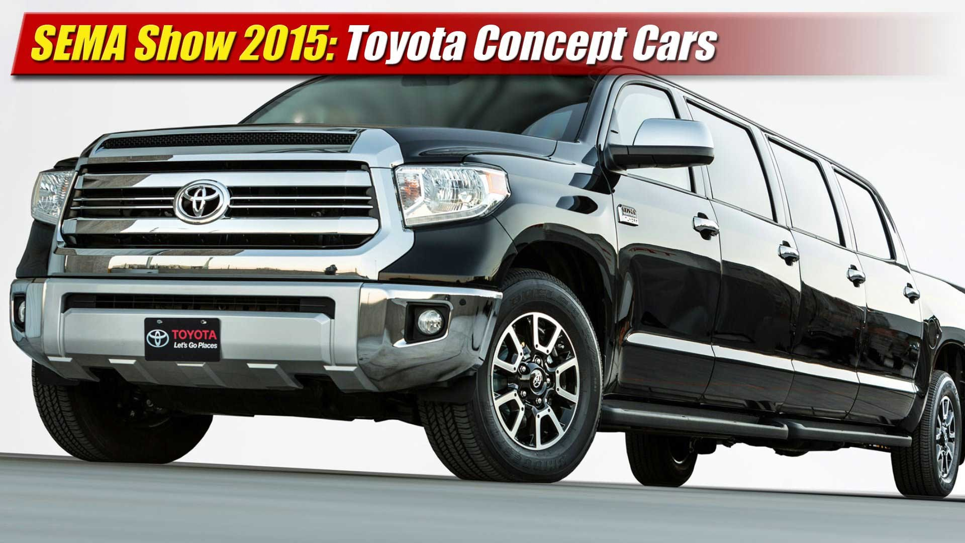 SEMA Show 2015: Toyota Concepts