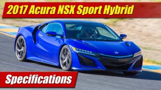 Specifications: 2017 Acura NSX
