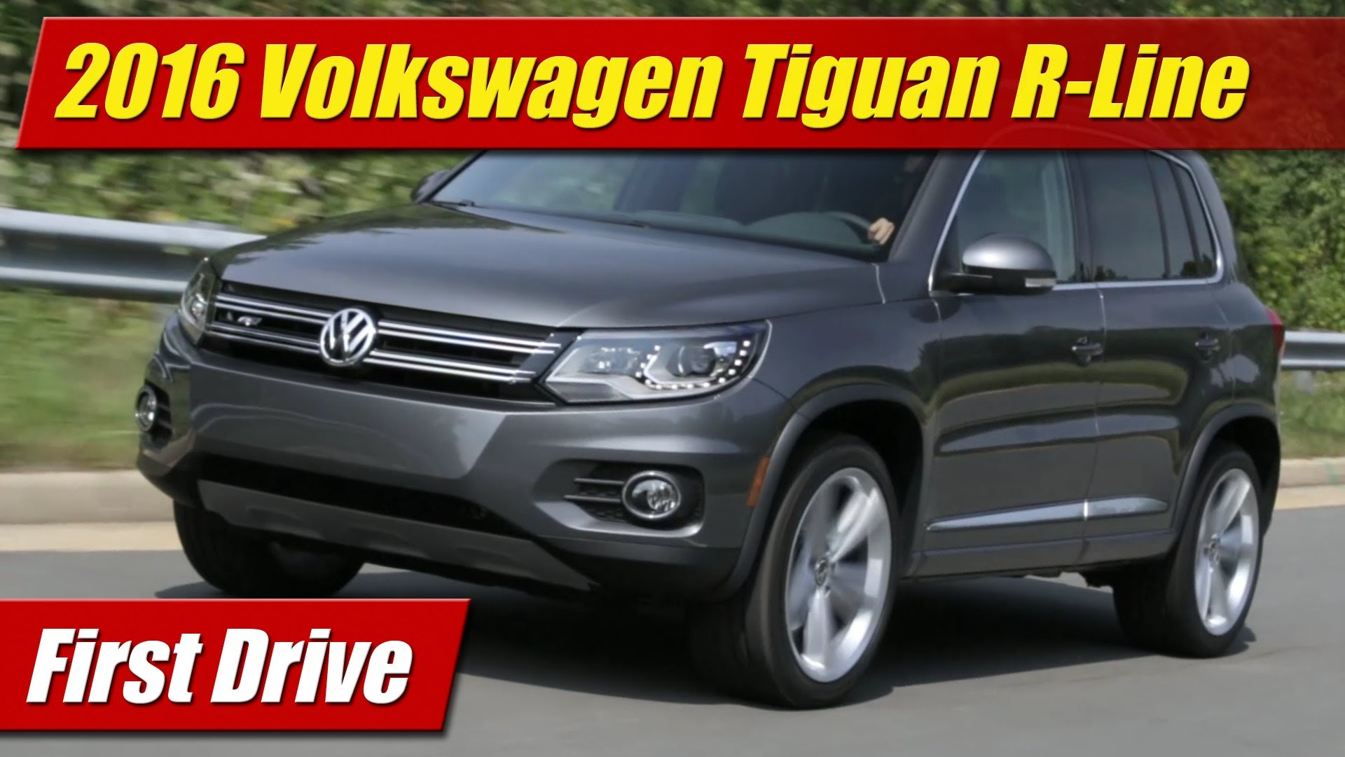 first drive 2016 volkswagen tiguan r line testdriven tv. Black Bedroom Furniture Sets. Home Design Ideas