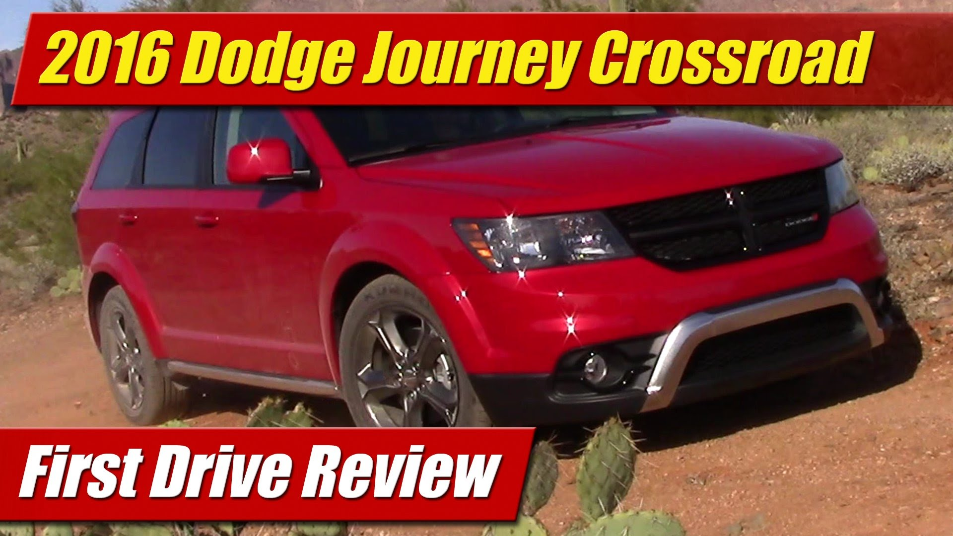 First Drive Review 2016 Dodge Journey Crossroad TestDriven TV