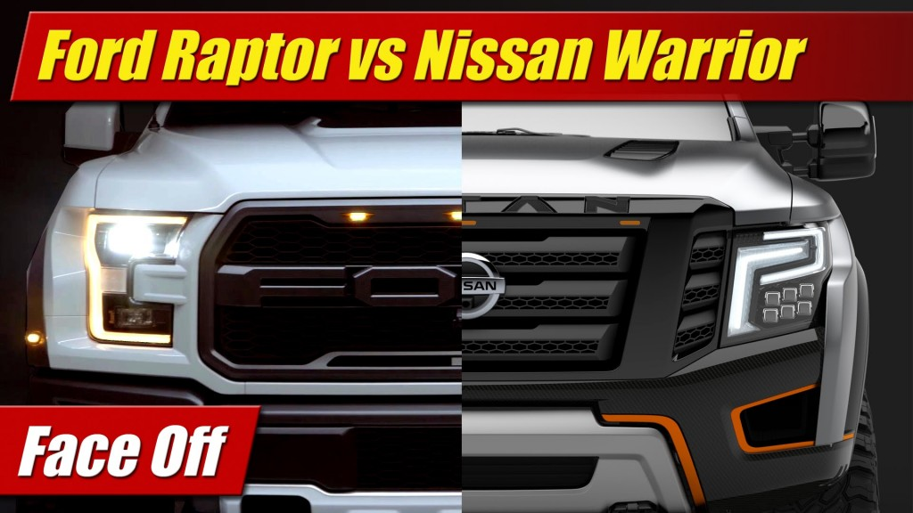 Face Off Ford F 150 Raptor Vs Nissan Titan Warrior Concept