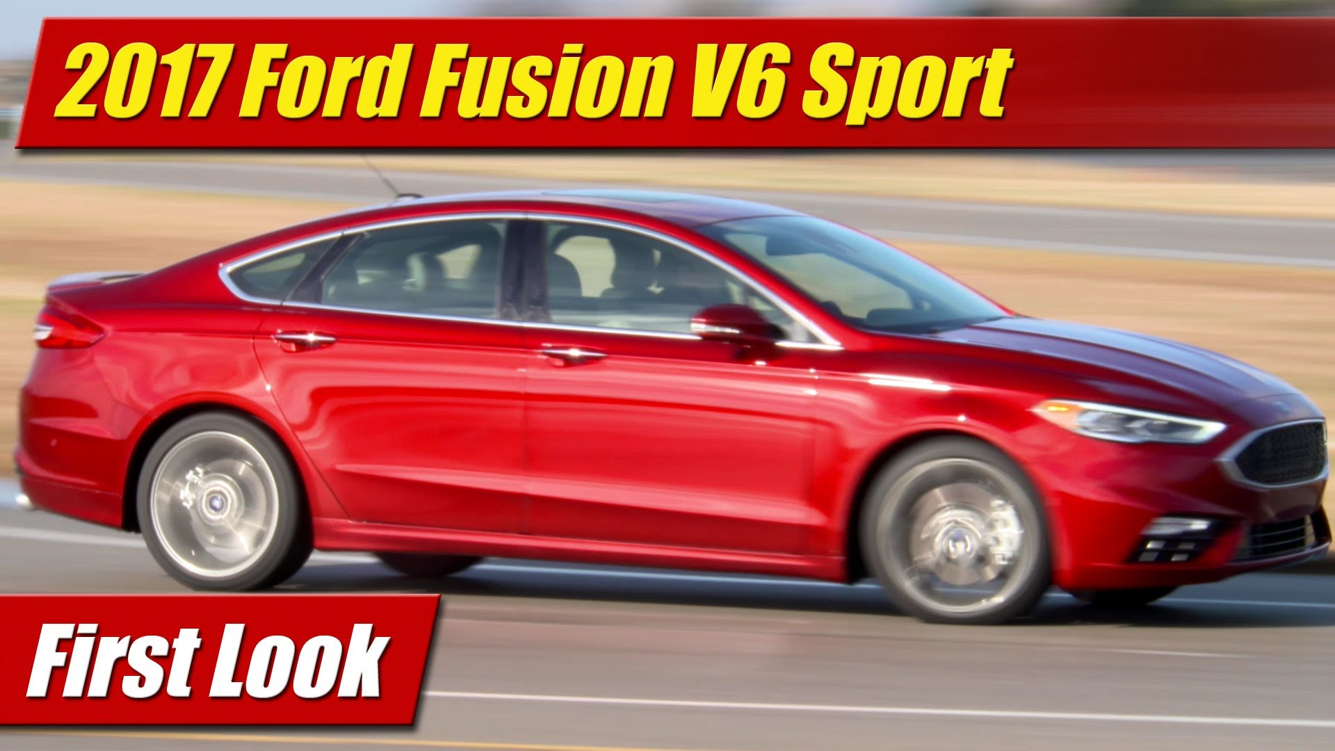 First Look 2017 Ford Fusion V6 Sport