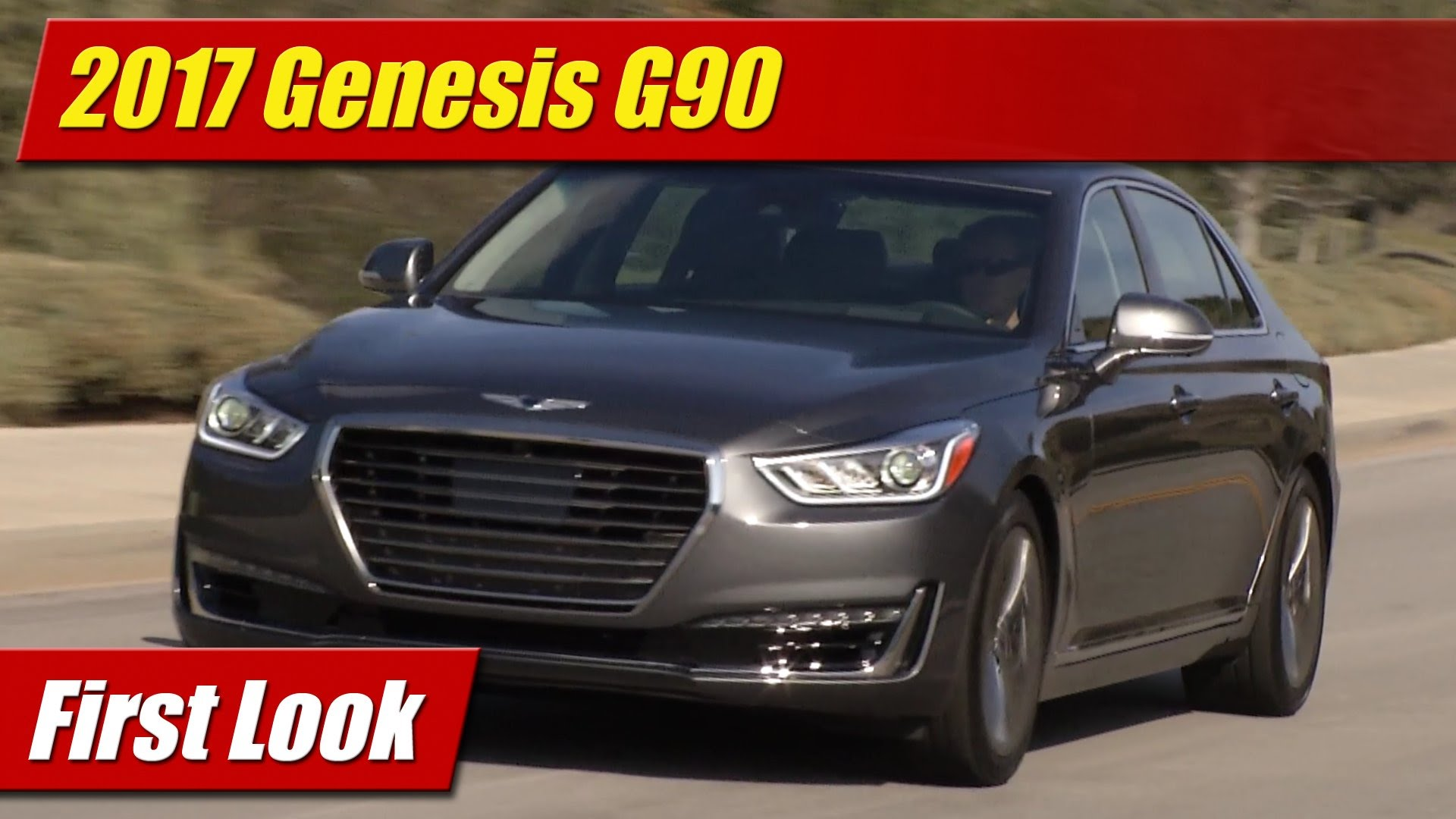Fantastic First Look 2017 Genesis G90  TestDrivenTV