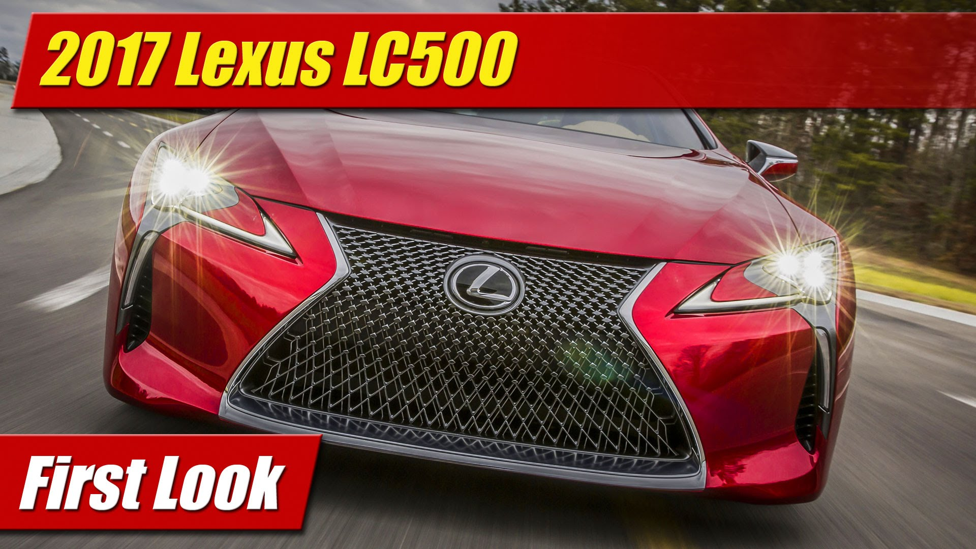 First Look: 2017 Lexus LC500 - TestDriven.TV
